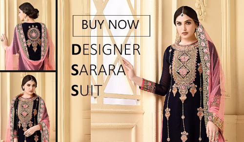 stylish sarara embroidered suit online