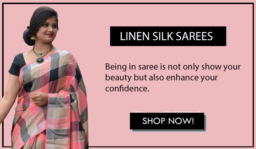 Beautiful Linen silk Designer sarees at best Price - latest style of saree banner 2019