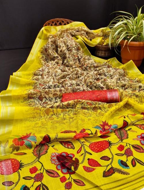 million designs linen sarees