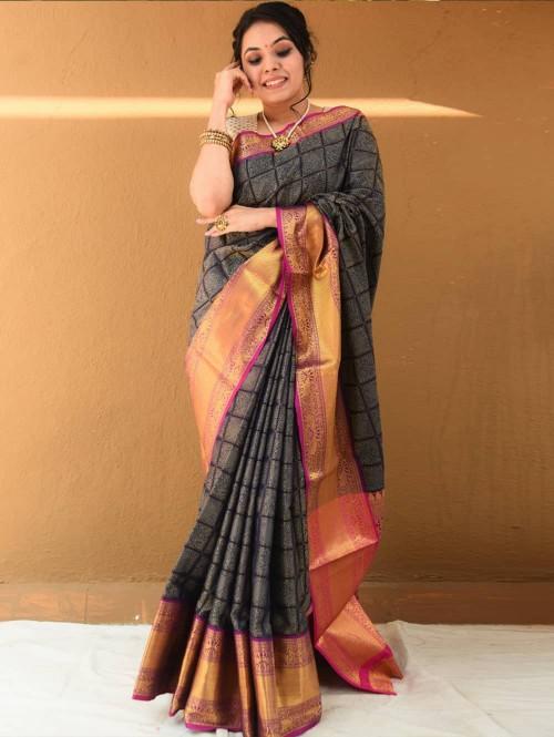 red saree designer blouse