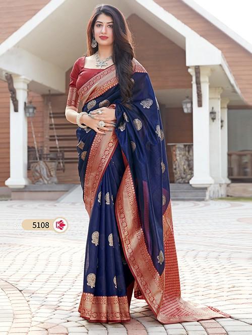 Blue Art Silk Designer Traditional Saree - gnp0108712