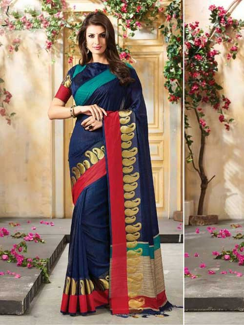 blue-colored-beautiful-embroidered-cotton-saree-with-matching-blouse-gnp0000229