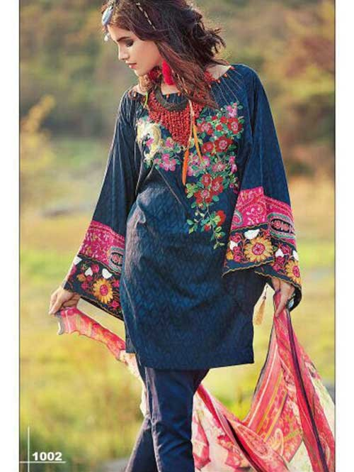 Blue Colored Beautiful Embroidered Pakistani Salwar Suit