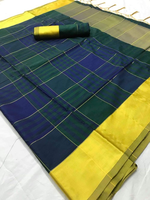 Blue Colored Beautiful Weaving Silk Saree - Tulika jashi