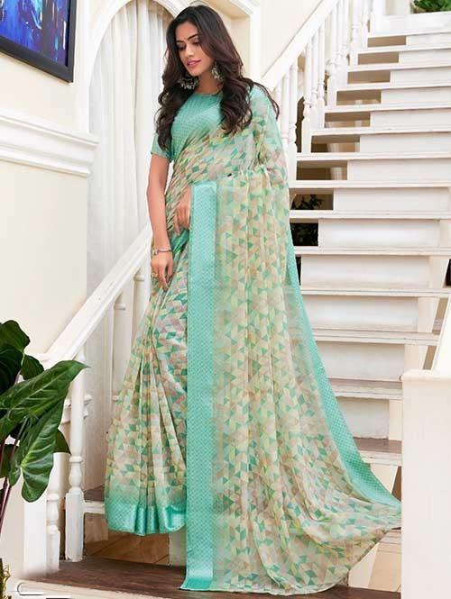 Linen Sarees - Shop for Pure Linen Saree Online at GrabandPack.com