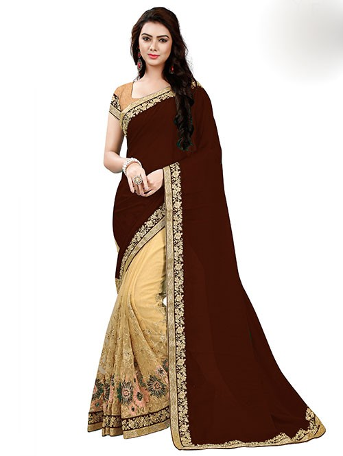 brown-color-designer-beautiful-chiffon-and-net-saree-with-blouse-gnp0000043