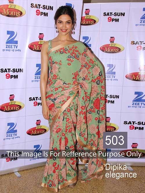 Deepika Green Colored Beautiful Weightless Georgette Saree