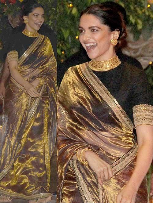 Deepika Yellow Tissu Silk Saree Online
