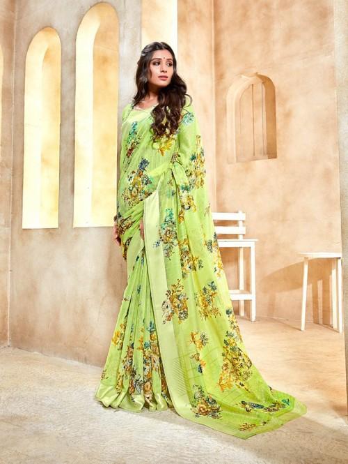 floral print garden sarees