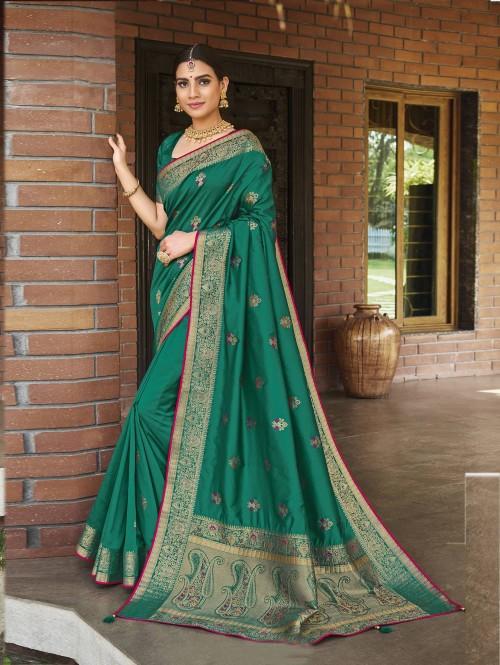 Green silk saree grabandpack