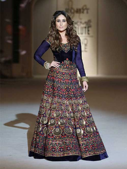 Kareena Kapoor Velvet Party Wear Lehenga Choli
