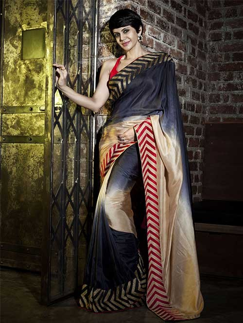 Mandira Multi Color Satin Saree Online