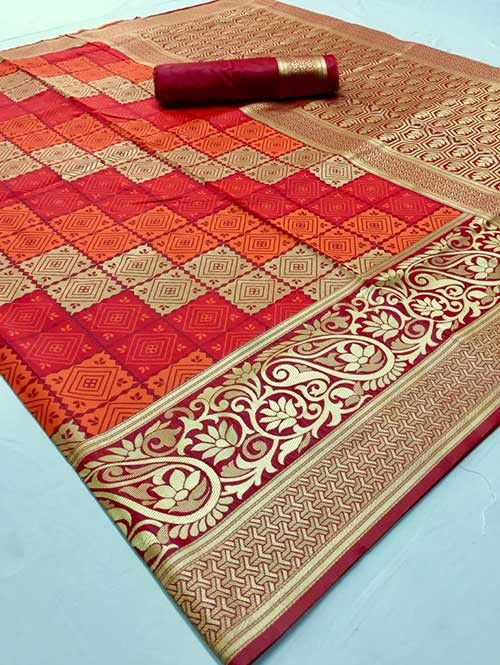 Maroon Colored Beautiful Soft Silk Traditional Saree Online - Maher