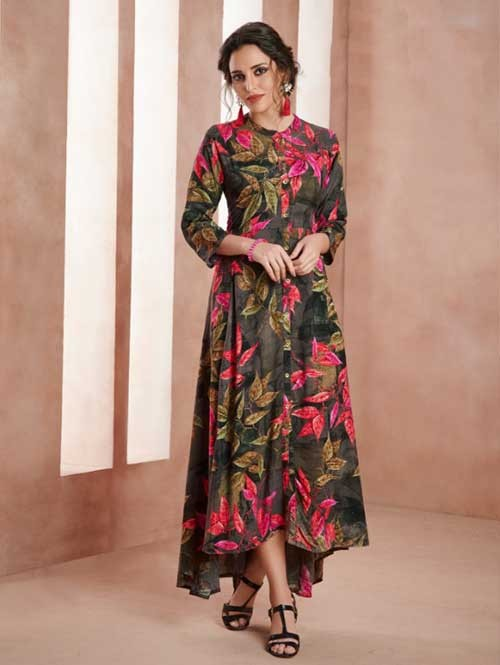 9527ef18bf7 Buy Now Multi Color Beautiful High Low Kurti