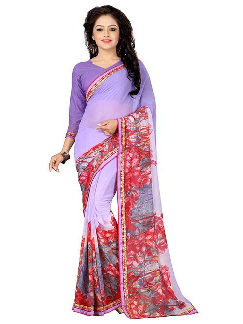 Multi Colored Beautiful Printed Weightless Saree (