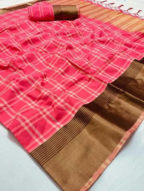 Multi Colored Beautiful Soft Silk Saree Online - Venika