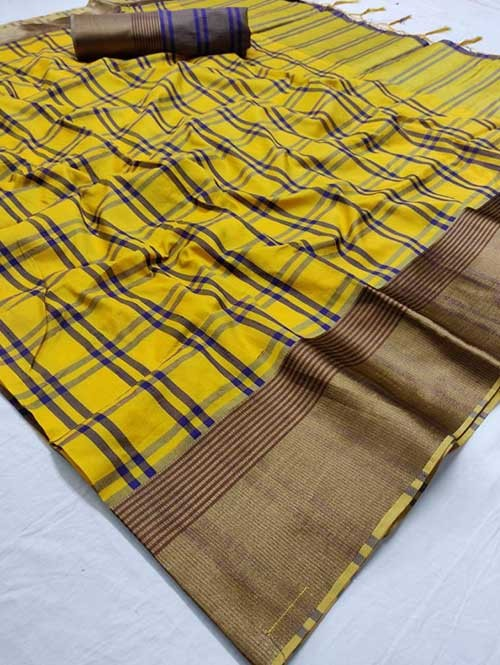 Multi Colored Beautiful Soft Silk Saree Online - Venika