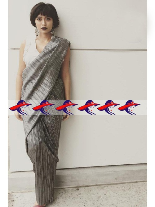 Multi Colored New Arrival Digital Printed Satin Saree in Best Qaulity