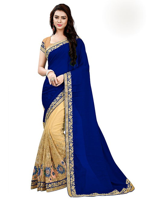 navy-blue-color-designer-beautiful-chiffon-and-net-saree-with-blouse-gnp0000046