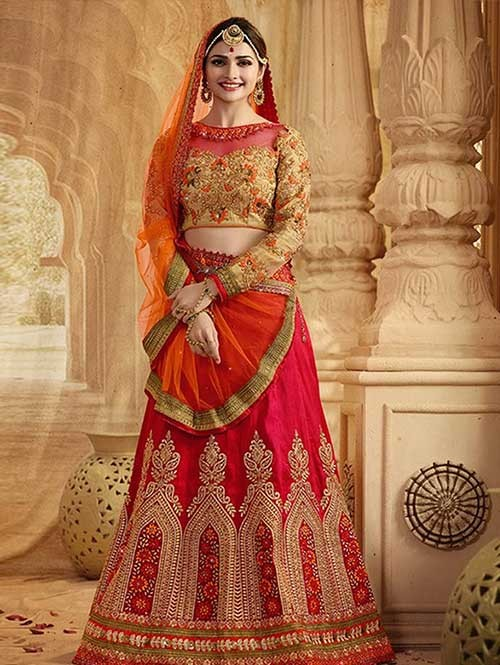 Pachi Beautiful Embroidered Banglory Silk Lehenga Choli