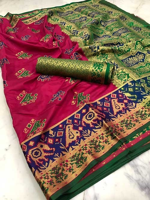 Pink Color Beautiful Weaving Cotton Silk Saree
