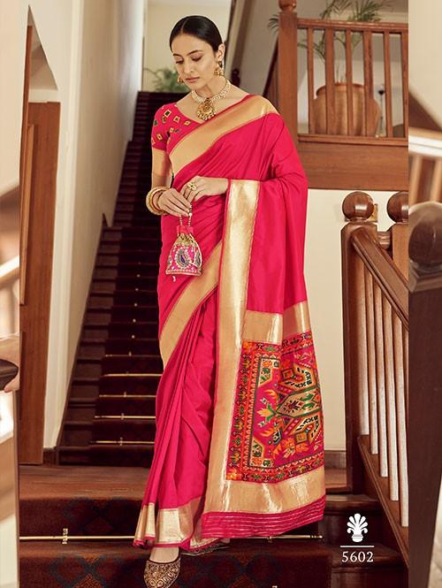 Pink Colored Banarasi Soft Silk Saree - gnp0108764