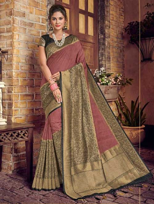 Pink Colored Beautiful Hand Dyeing Soft Silk Saree - Rani Jodha
