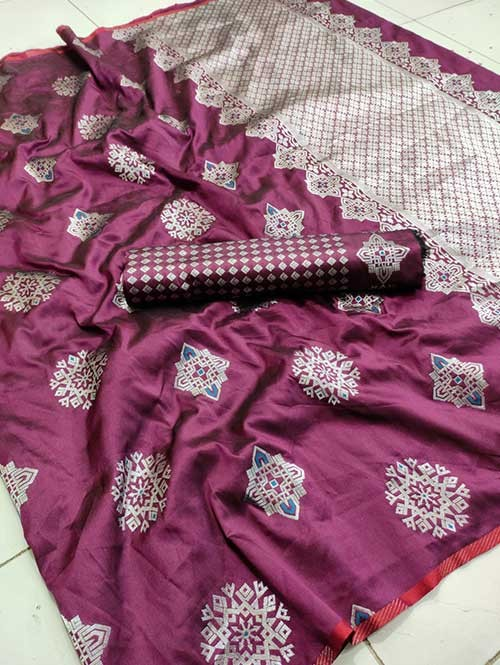 Pink Colored Beautiful Soft Silk Traditional Saree Online - Bhagyashree