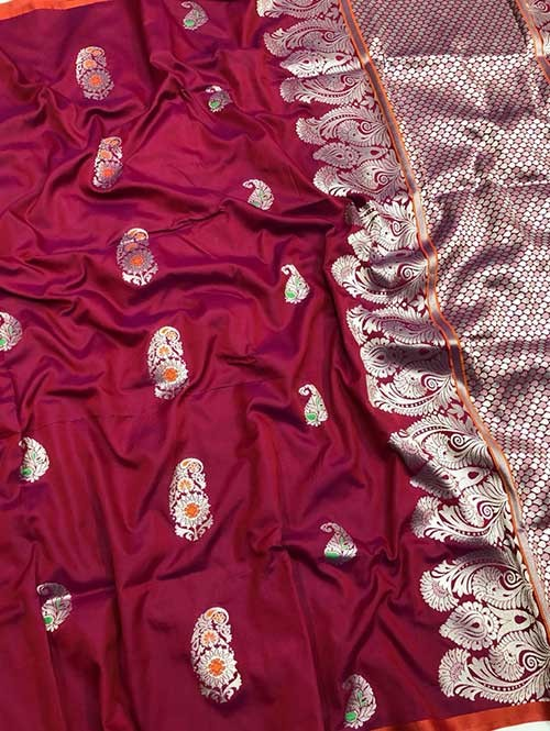 Pink Colored Beautiful Soft Silk Traditional Saree Online