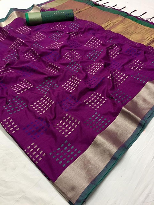 Pink Colored Beautiful Thousand Butta Of Zari Soft Saree - Kangan