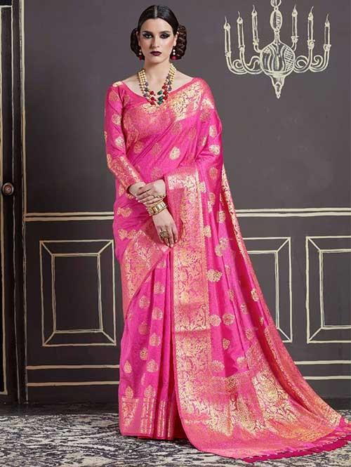Pink-Kshama Silk