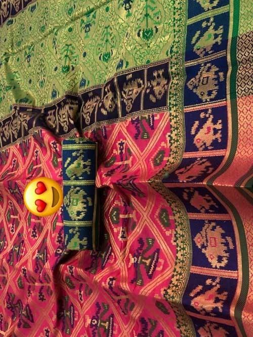Pink Colored Beautiful Weaving Silk Saree - Patola