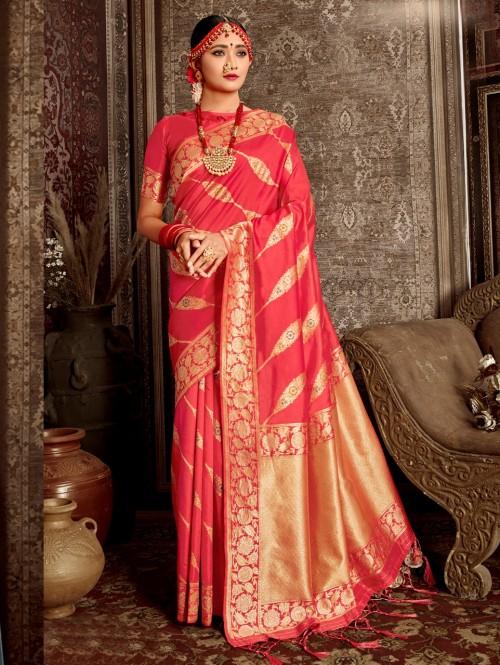 pink saree design GrabandPack