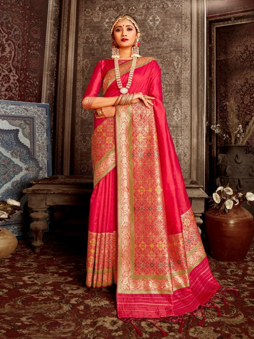 pink saree look for wedding party grabandpack