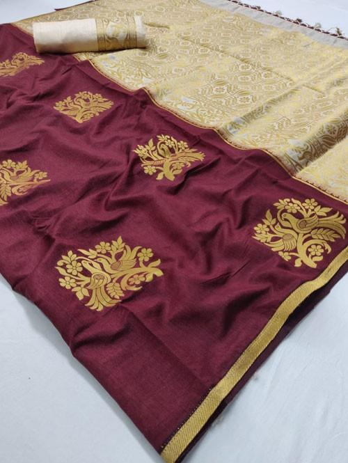 Purple Colored Beautiful Soft Banglory Silk With Rich Pallu Saree - Rajkumari