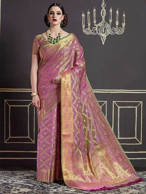 Purple-Kshama Silk