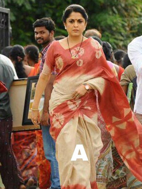 Ramya Krishnan In Beautiful Linen Chanderi With beautiful Ikat Prints Sarees