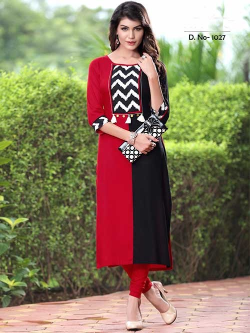 red-and-black-colored-beautiful-rayon-printed-kurti-gnp0000774