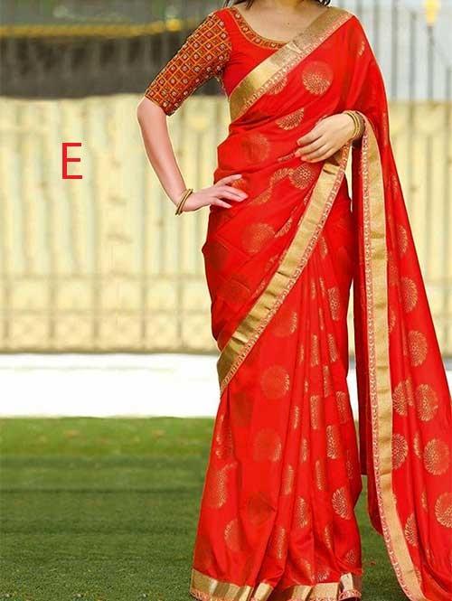 Red Colored Beautiful Jacquard Silk Saree