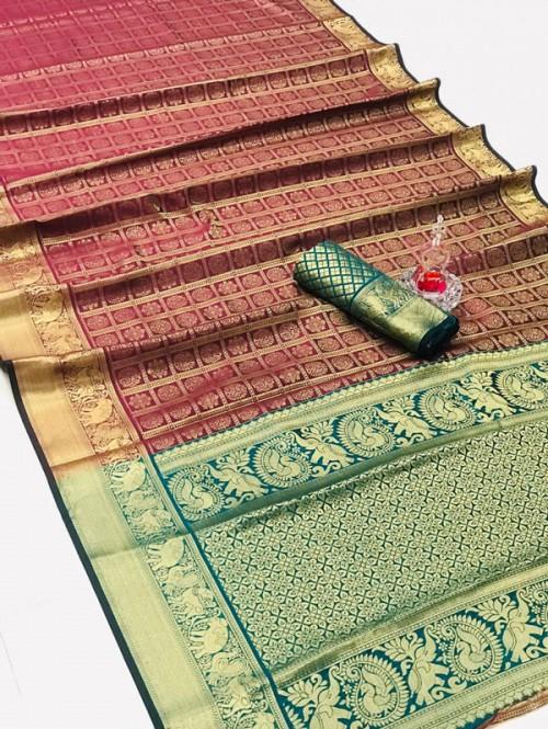 Silk Woven Kanchipuram Pattern saree gnp008148