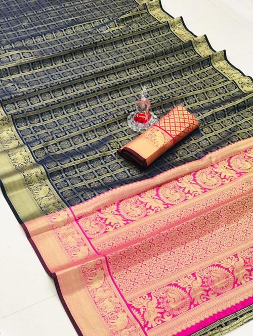 Silk Woven Kanchipuram Pattern saree