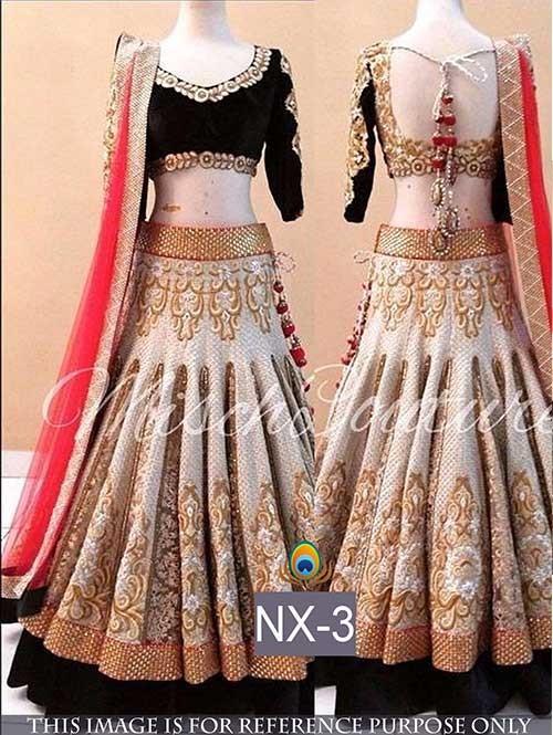 Silver Colored Gorgeous Banarasi and Rasal Net Lehenga With Beautiful Velvet Choli.
