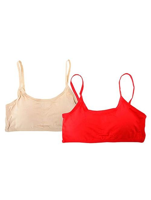 Beige & Red