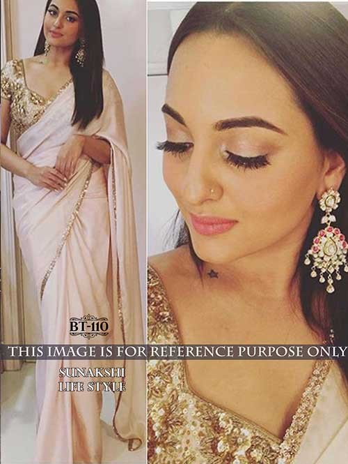 Sonakshi Pink Colored Beautiful Georgette Saree