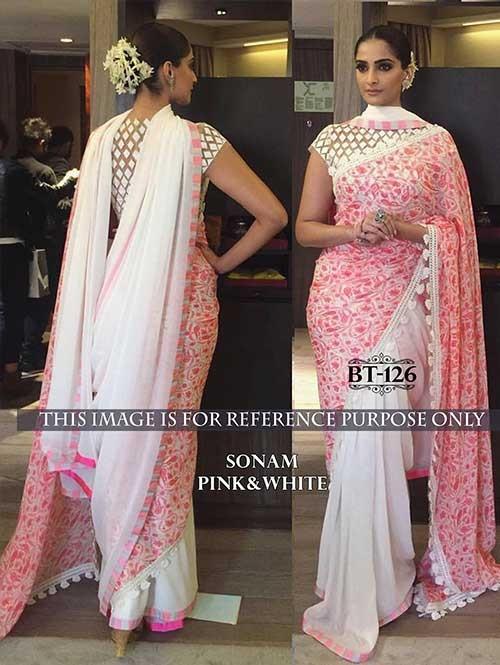 85378e241e Sonam Off White Color Georgette Saree Online | Shop Now