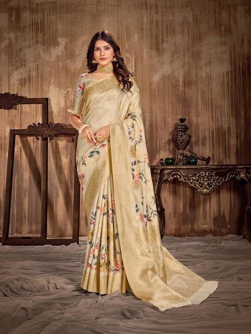 Women's Digital printed Soft Silk Saree gnp0107523