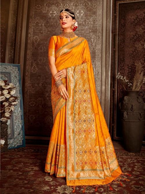 Grabandpack yellow color saree design