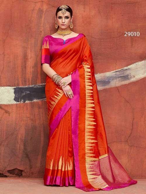 Orange -Kundan Silk