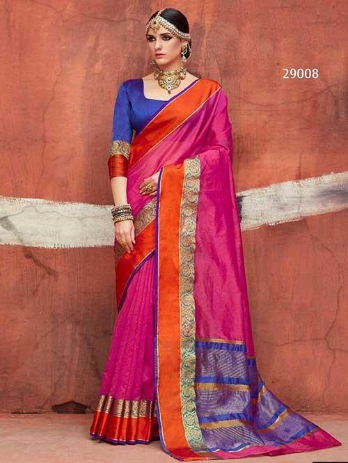 Pink -Kundan Silk