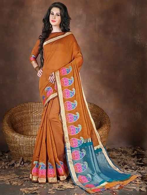 Yellow Colored Beautiful Pure Soft Cotton Saree With Exclusive Latkan